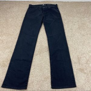 7 For all Mankind  Button-fly Black Standard Jeans